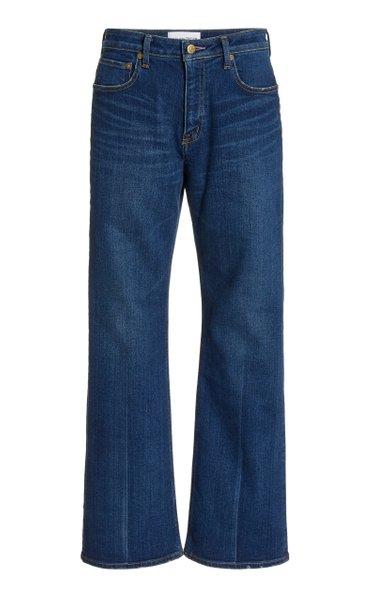 Amethyst Stretch Mid-Rise Flared-Leg Jeans