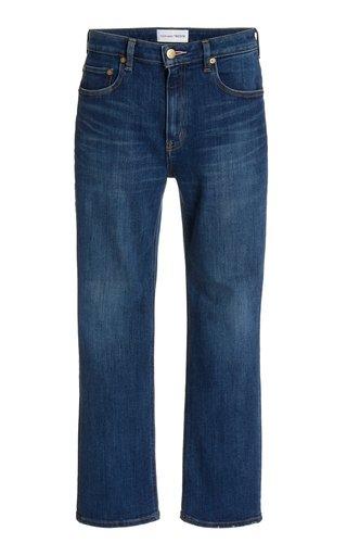 Rose Quartz Stretch Mid-Rise Slim-Fit Cropped Skinny Jeans