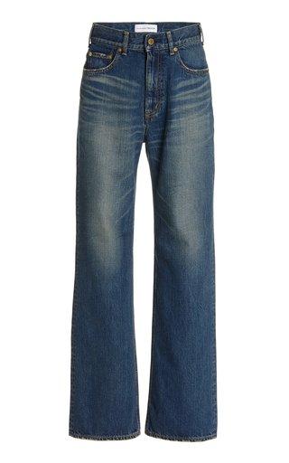 Lapis Lazuli Rigid High-Rise Organic Cotton Wide-Leg Jeans