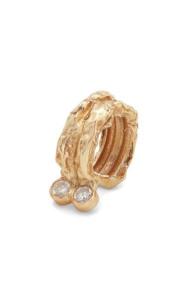 The Evoke 14K Gold Diamond Ear Cuff
