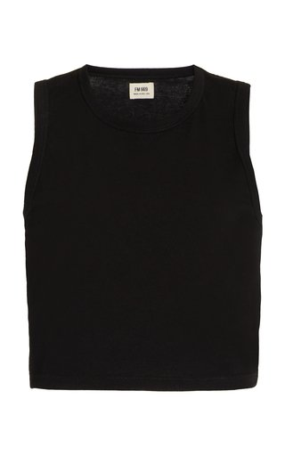Exclusive Cropped Organic Cotton Tank Top