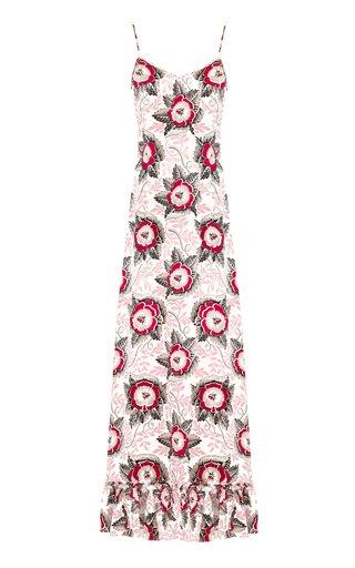 The Harmonizer Floral Silk Maxi Dress