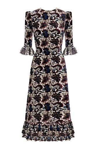 The Falconetti Floral Silk Midi Dress