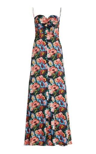 The Love Bug Floral Silk Maxi Dress