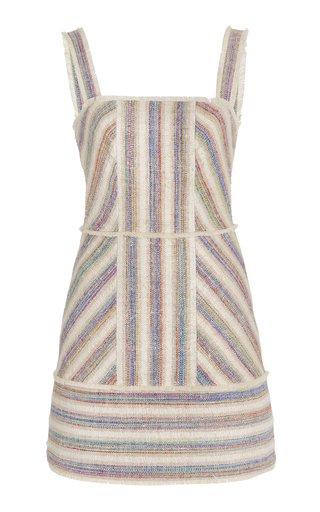 Madira Striped Slub Canvas Mini Dress
