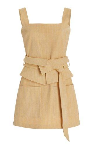 Eve Belted Cotton-Blend Mini Dress