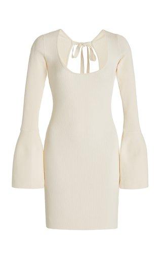 Terza Open-Back Ribbed-Knit Mini Dress
