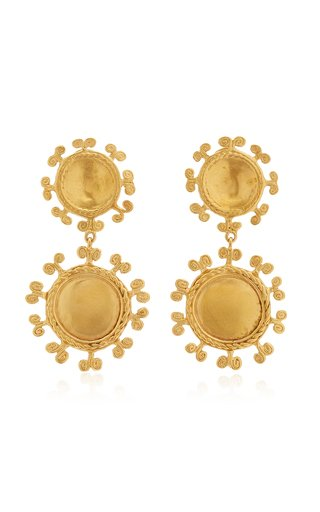 Sue Doble 24K Gold-Plated Earrings