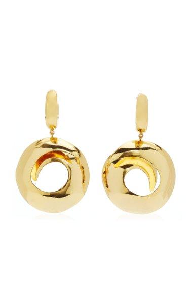 Black Hole 24K Gold-Plated Earrings