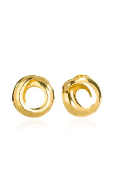 24K Gold-Plated Black Hole Earrings
