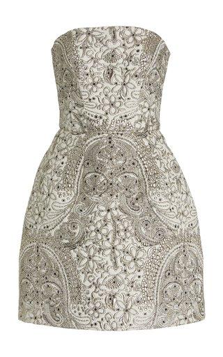 Strapless Jacquard Mini Dress