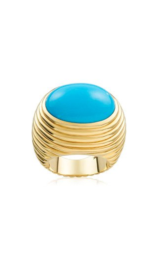 Ready 2 Love 18K Yellow Gold Ring Turquoise Ring