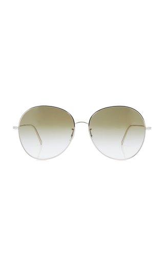 Ysela Metal Round-Frame Sunglasses