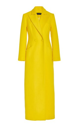 Double-Breasted Wool-Cashmere Long Duster Coat