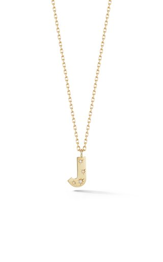 18K Yellow Gold Anniversary Initial Necklace