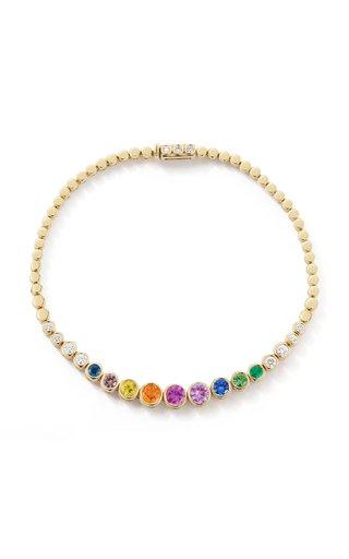 18K Yellow Gold Prive Rainbow Tennis Bracelet