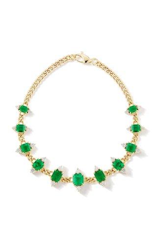 One of a Kind 18K Yellow Gold Toujours Emerald & Diamond Bracelet