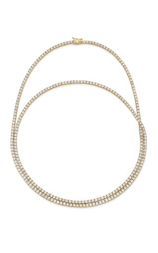 One of a Kind 18K Yellow Gold Diamond Tennis Necklace