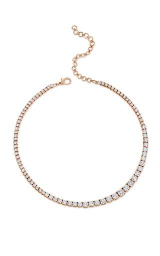 One of a Kind 18K Rose Gold Gradual Diamond Tennis Necklace