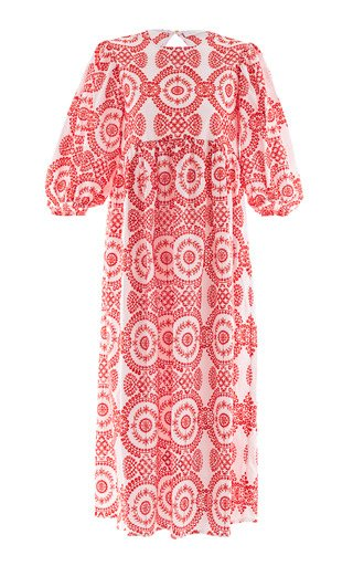 Vanessa Broderie Anglaise Loose Dress With Sleeves