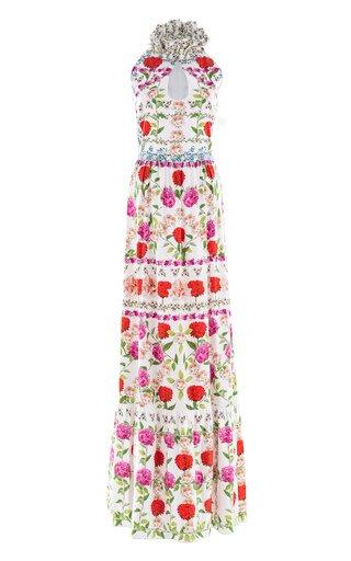 Leonora Frill Collar Gown
