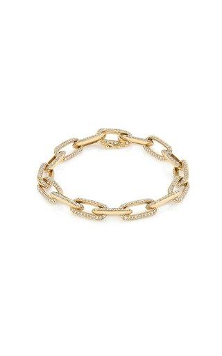 18K Yellow Gold 18K Gold Chubby XL Link Knife Edge Chain Bracelet