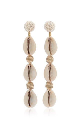 Exclusive Vivica Beaded Shell Earrings