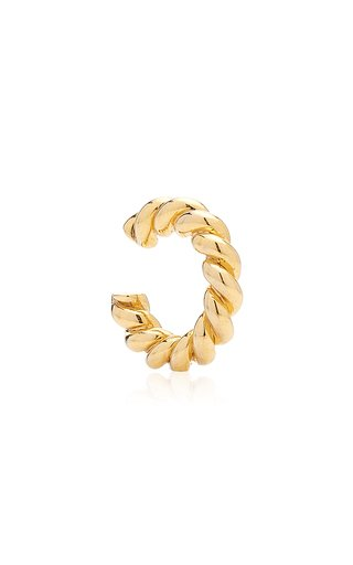 Twisted Gold-Plated Ear Cuff