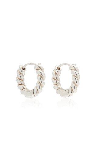 Twisted Sterling Silver Hoop Earrings