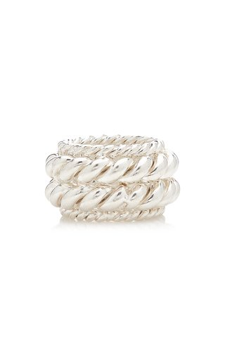 Twisted Spin Sterling Silver Ring