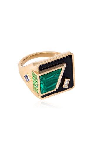 The Fadia 18K Yellow Gold Multi-Stone Ring