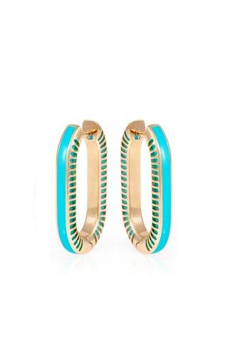 Lock Rays 18K Yellow Gold Turquoise Earrings