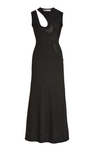 Cutout Knit Jersey Midi Tank Dress