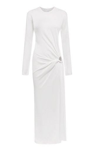 Ruched Cutout Jersey Maxi Dress