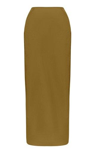Auermann Poplin Maxi Column Skirt