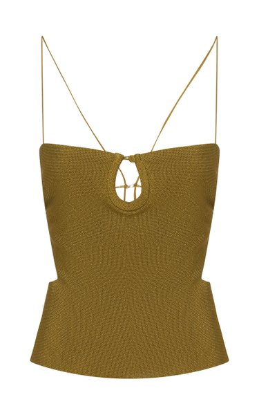 Open-Back Compact-Knit Top