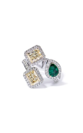 One Of A Kind Salavetti 18K White Gold Ring