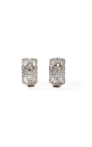 Bulgari 18K White Gold Diamond Earrings