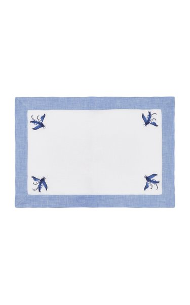 Blue Lily Of The Valley Linen Placemat