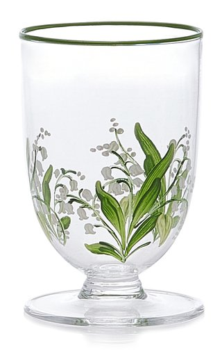 Lily Of The Valley Footed Glass