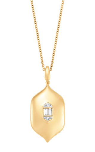 Large Aurora 18K Yellow Gold Diamond Necklace