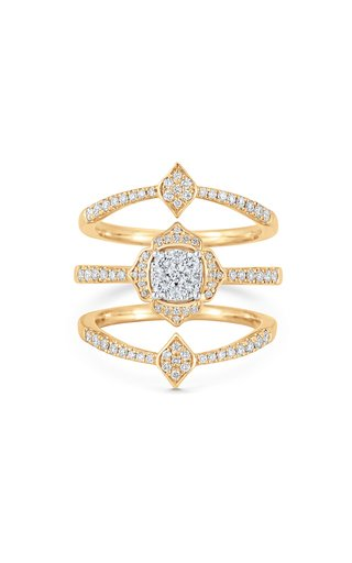 Leela 18K Yellow Gold Diamond Ring