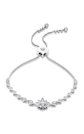 Isadora 18K White Gold Diamond Bracelet