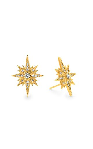 Gretta 18K Yellow Gold Diamond Earrings