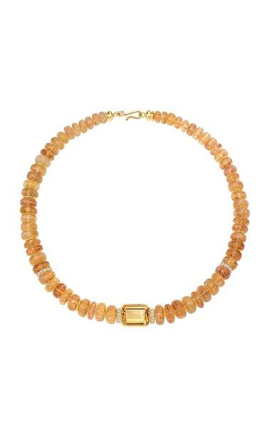 18K Yellow Gold Amazônia Imperial Topaz Necklace