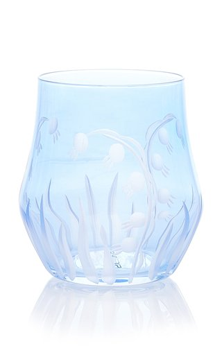 Set-of-Four Lily Of The Valley Crystal Wine Glass
