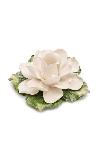 Set-Of-4 Tealight White Rose Holder