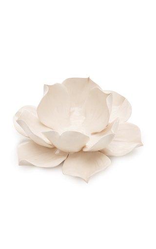 Set-Of-4 Tealight White Magnolia Holder