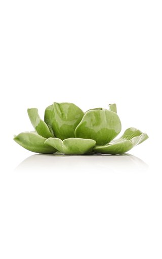Set-Of-4 Tealight Green Magnolia Holder