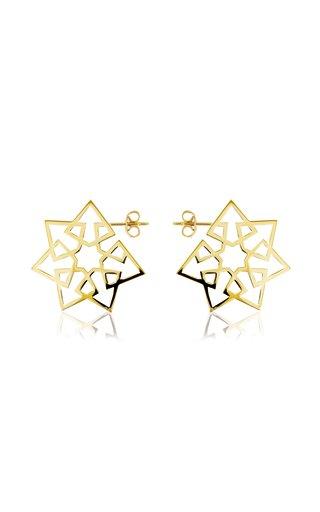 Arabesque Deco 18K Yellow Gold Earrings